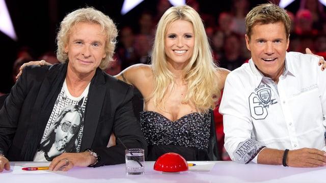 Thomas Gottschalk, Michelle Hunziker und Dieter Bohlen.