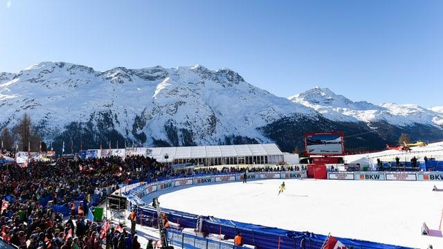 Blick auf den Zielraum in St. Moritz.