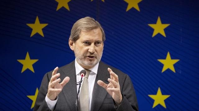 Johannes Hahn, cumissari da l'UE.