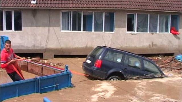 Hochwasser in Rumänien.