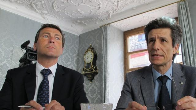 Gianni Dalla Vecchia, Chef der Steuerverwaltung und Stadtrat Peter Neukomm.