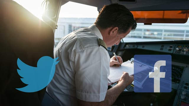Ein Pilot sitzt im Cockpit.