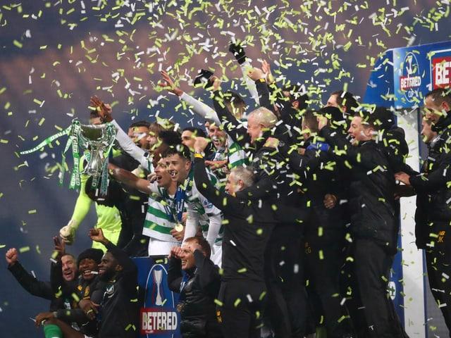 Celtic Glasgow in Feierlaune.