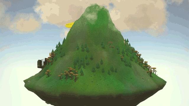 Der Berg dreht sich.