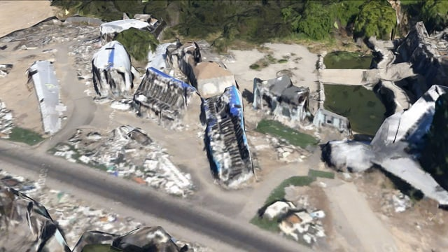 google-earth Aufnahme von Häusern