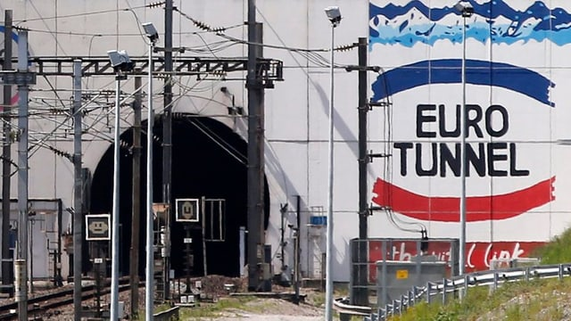 L'entrada a l'Eurotunnel.