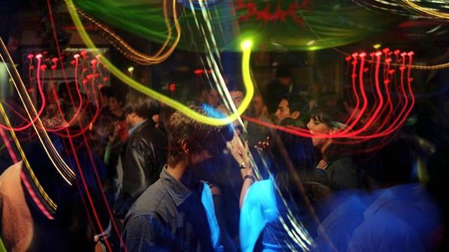 Szene aus einem Tanz-Lokal