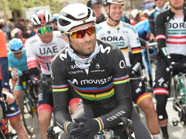 Alejandro Valverde am Mittwoch beim Start zu Quer durch Flandern.