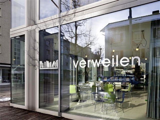 Ein moderner Ort zum Verweilen: Die Bibliothek in Landquart.