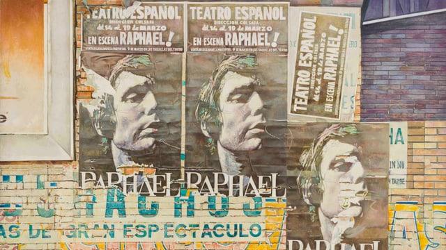 Plakate für ein spanisches Theater «Raphael» (Porträt eines Mannes)