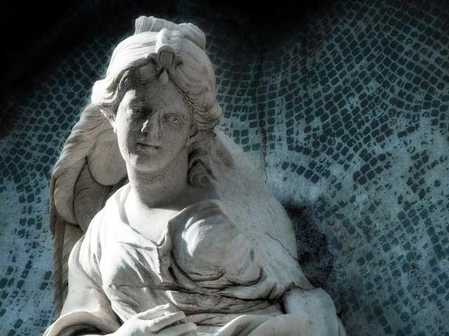 Ein erbarmungsvoller Engel auf dem Friedhof von Catania.