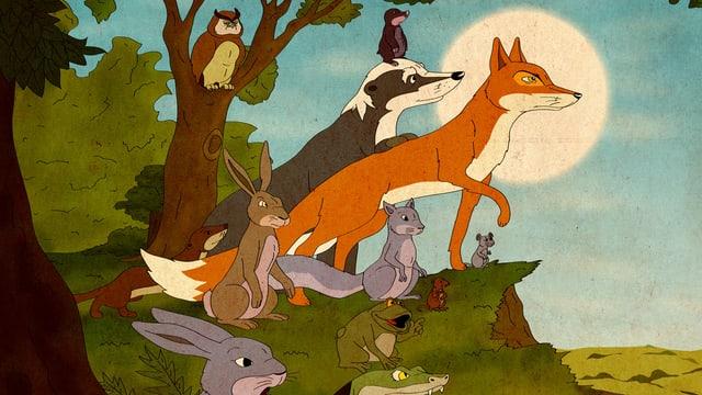 Die Tiere aus dem grossen Wald sind auf der Suche nach einer neuen Heimat.