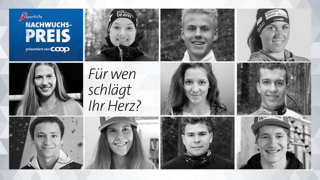 Die 10 Nominierten für den 36. Sporthilfe Nachwuchs-Preis