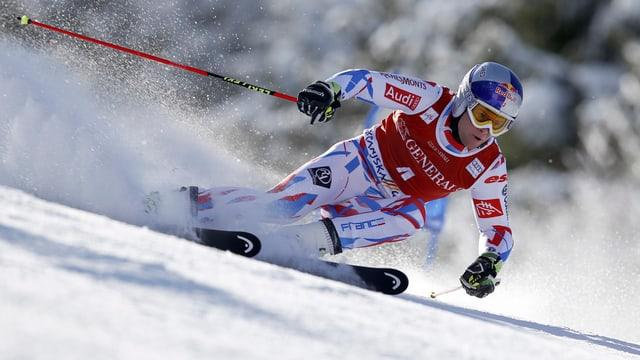 Alexis Pinturault durant il slalom gigant a Kranjska Gora.