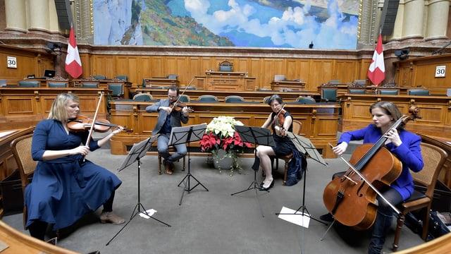Das Bundeshaus-Quartett.
