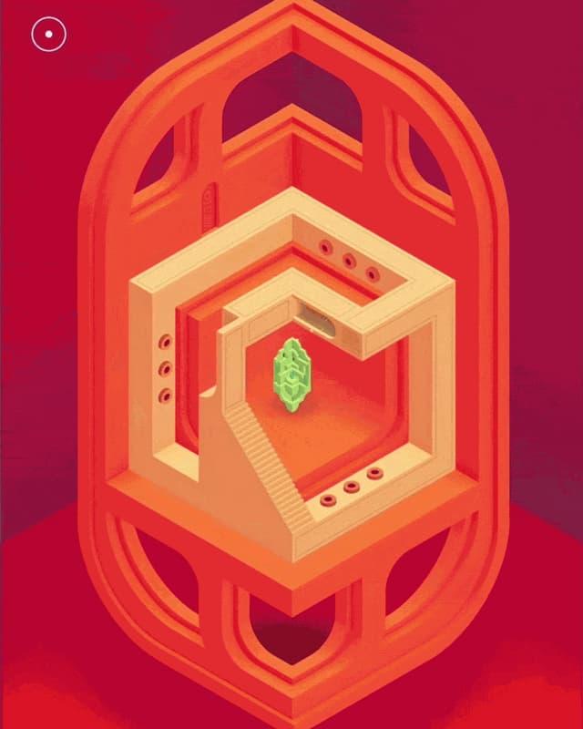 Ein animiertes GIF zeigt eine Szene aus dem Game «Monument Valley 2»