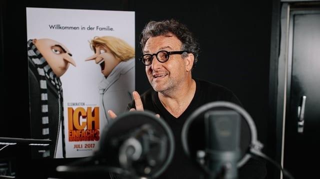 Marco Rima im Tonstudio bei der deutschen Synchronisation des Animationsfilms.