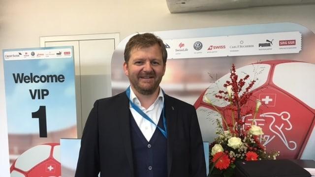 Stadionmanager Reto Mattmann ist bereit für das WM-Qualifikationsspiel in Luzern