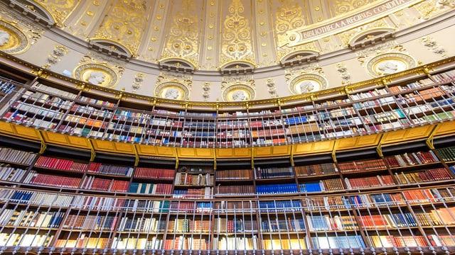 Innenansicht der Richelieu Bibliothek in Paris.