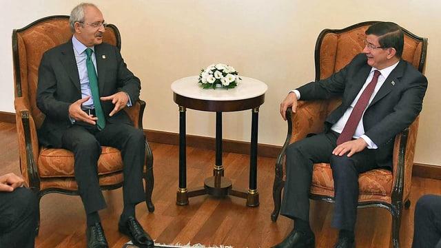 Davutoglu und Kilicdaroglu im Gespräch