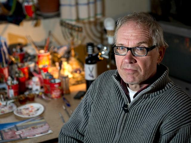 Der schwedische Kunstprofessor und Mohammed-Zeichner Lars Vilks.