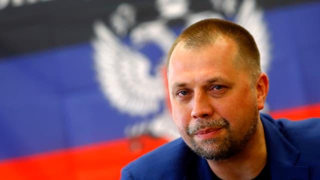 Porträt des selbst ernannten Premierminister der nicht anerkannten «Volksrepublik» Donezk, Alexander Borodaj.