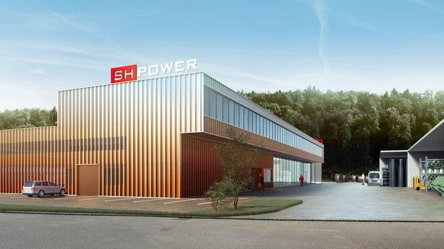Visualisierung des neuen Werkhofes von SH Power.