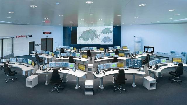Das Hirn des Schweizer Hochspannungsnetzes: Die Netzleitstelle Swissgrid Control.