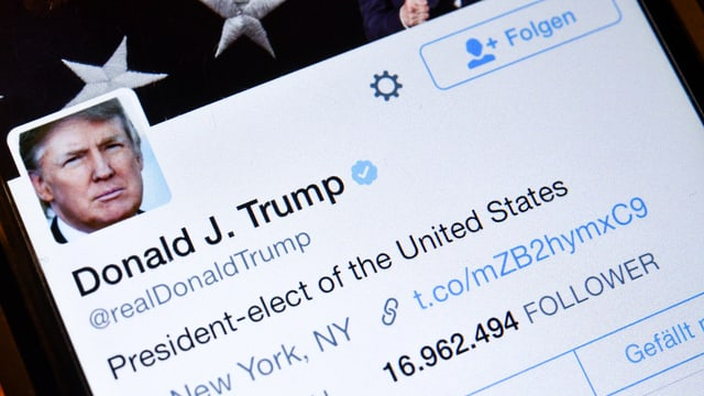 Twitter-Konto von Trump