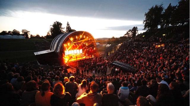 Aufführung im Amphitheater August Raurica