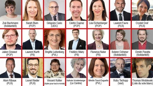Fotogalerie mit den 21 Kandidierenden