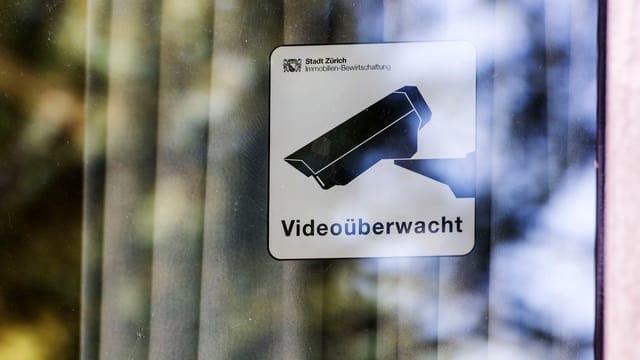Piktogramm Videoüberwacht der Stadt Zürich.