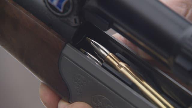 Jagdgewehr mit Munition