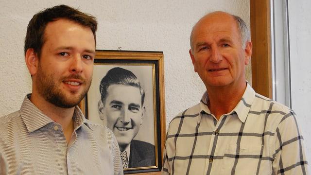 Vater und Sohn Wandfluh, in der Mitte Firmengründer Ruedi Wandfluh