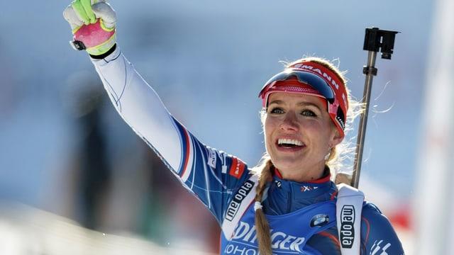 Gabriela Koukalova, la victura dal sprint da biatlon sur 7,5 kilometers.