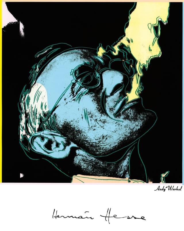 Hesse raucht Zigarre. Hermann-Hesse-Poster von Andy Warhol.