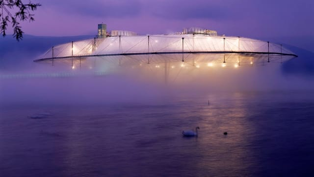 Die Wolke in Yverdon-les-Bains an der Expo.02.