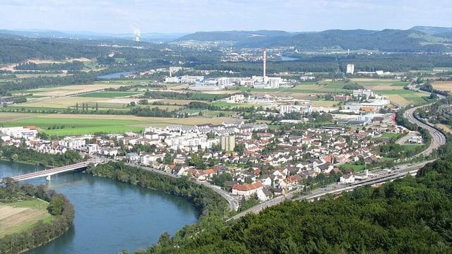 Stein von oben, Rhein im Vordergrund