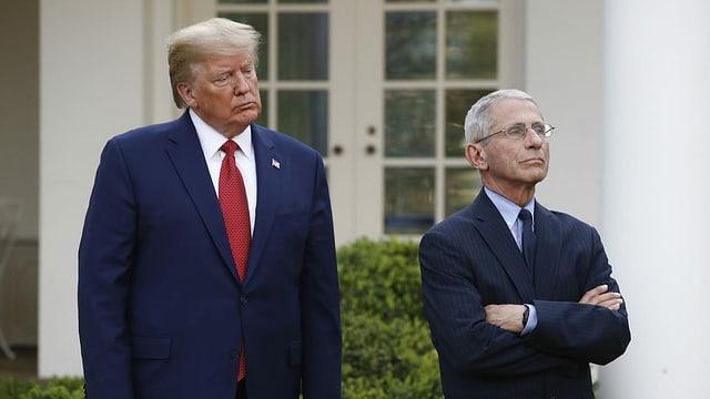 Donald Trump ed Anthony Fauci.