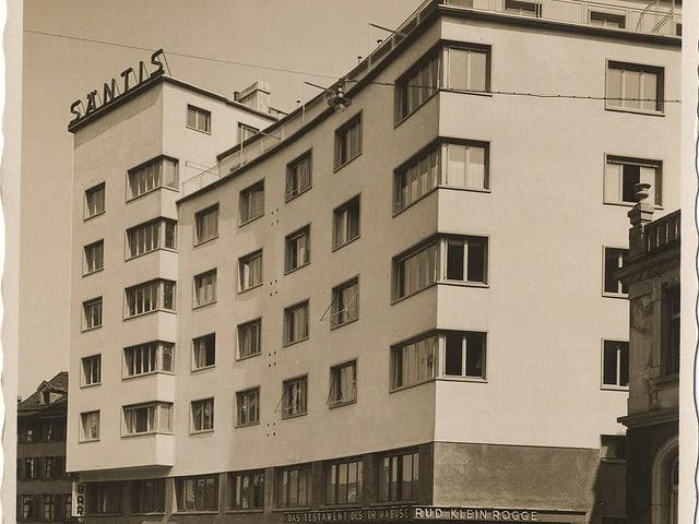 Postkarte «Säntis» an der Lämmlisbrunnenstrasse 22, aufgenommen um 1932.