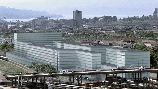 Das zukünftige Polizei- und Justizzentrum hat viele Fenster.