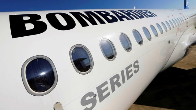 Bombardier-Flugzeug