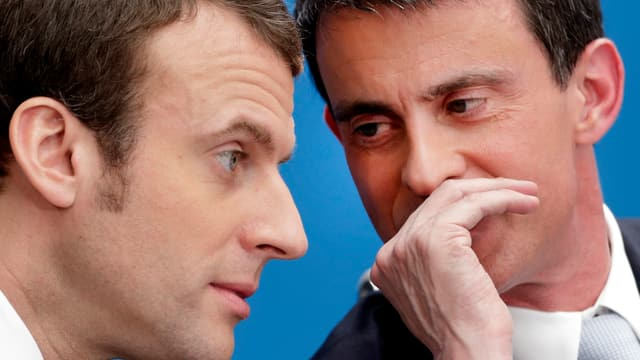 Emmanuel Macron und Manuel Valls.
