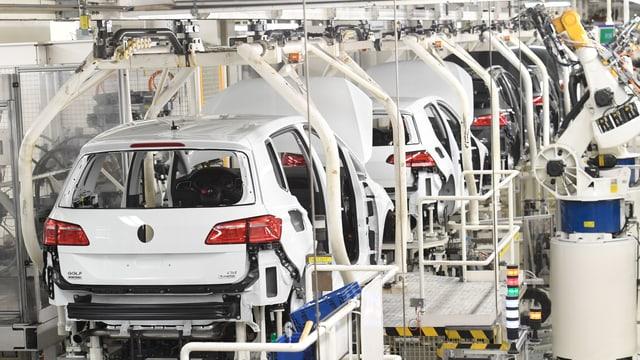 Autofrabrik von VW.