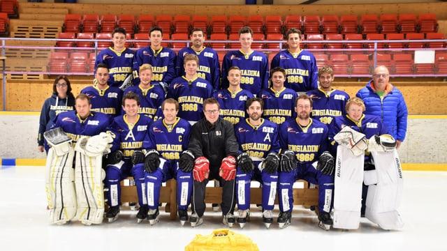 Il Club da hockey Engiadina sin la fotografia ufficiala.