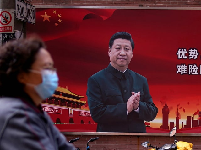 Plakat von Xi Jinping.
