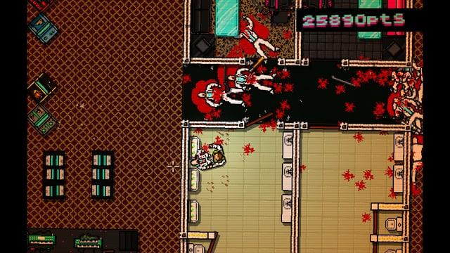 Bildschirmfoto des Games «Hotline Miami»