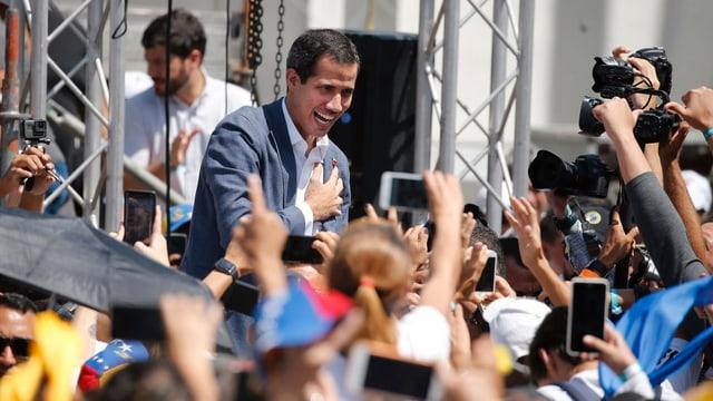 Juan Guaidó vor seinen Anhängern