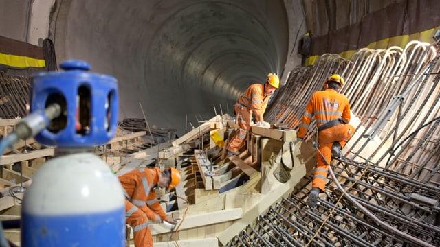 Letzte Bauarbeiten im Kraftwerk Linth-Limmern