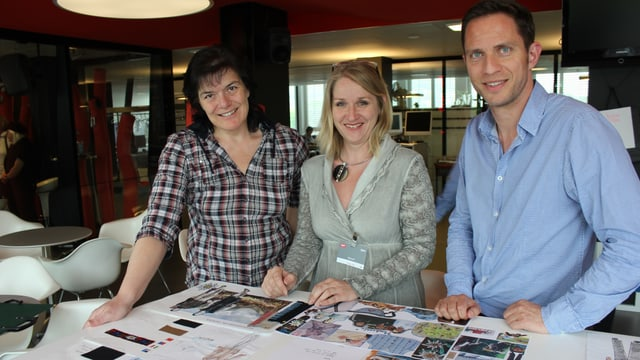 Irène Bodenmann-Meli, Susanne Noller und Adrian Küpfer.